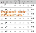 free shipping ,glasses screw,eyeglasses part ,S001~S022 ,10000pcs ,different size you can choose .(China (Mainland))