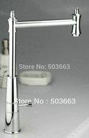 Swivel Kitchen Faucet Contemporary Chrome Mixer Brass Basin&Sink Tap CM0900