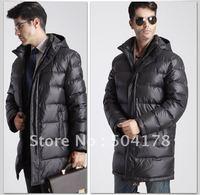 Commercial Men Down Coat Hooded Medium-Long Down Jacket Male Anti Season Winter Outerwear Warm Fashion Winter Jacket  Best Sale