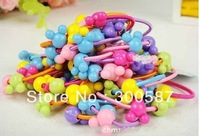 Hot! New Children's girl cartoon hair rope / hair accessories mix color and model