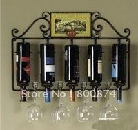 European-style Creative home Fashion wine rack Wall mounted rack Iron upside down wine glass rack