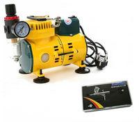 YEHONG Mini Air Compressor AC-108B + U-STAR S-130 Airbrush + Airbrush Holder