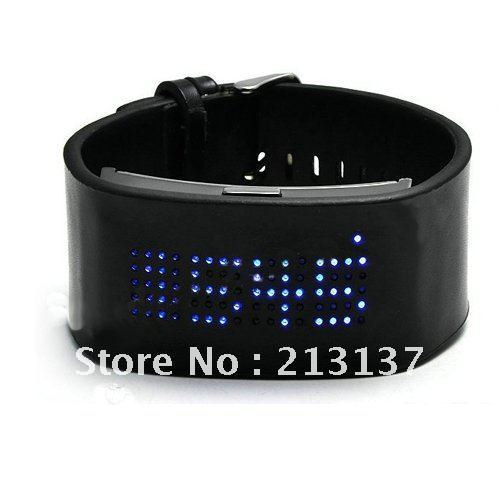 Fashion Sports Blue LED Digital Watch Free Shipping(China (Mainland))