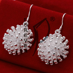 F-E114 Wholesale Fireworks 925 Silver Earrings,Fashion/Classic Jewelry,High Quality,Nickle free,antiallergic,Factory price(China (Mainland))
