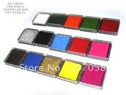 Freeshipping!15 colors  Ink pad/Colorful Cartoon Ink pad/Ink stamp pad/Inkpad for DIY funny work/Wholesale