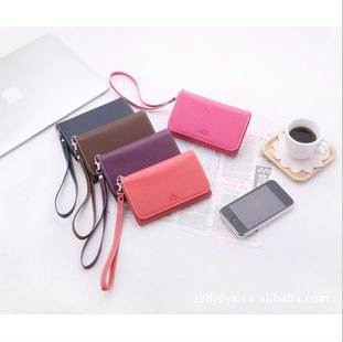 $5 off per $50 Hot sale!2012 Unisex Fashion Soft PU leather Multifunctional mobile phone bag/iPhone case/Smll card bag ZP419W