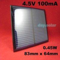 4.5V 100mA MONOCRYSTALLINE Mini Solar Power Cell PCB Panel Charge Battery 4 LED
