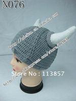 Free shipping (20/lot) 100% cotton Baby Viking Hat Newborn to adult  size Crochet Photo Prop HALLOWEEN COSTUME Football Team