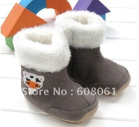 WINTER NEW SHOE BABY BOOT COMING NOW . 3 PARIS /LOT FREE SHIPING BABY SHOE