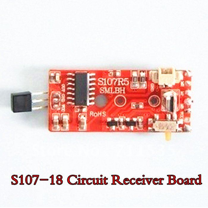 Wholesale Syma S107-18 PCB Box Circuit Receiver Board Spare Parts For 22cm Metal Alloy 3Ch RC S107 S107G S105 S105G Helicopter(China (Mainland))