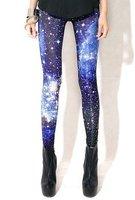 East Knitting KZ-015 Fashion Woman Leggings Space Printed Pants Plus Size XL FREE SHIPPING