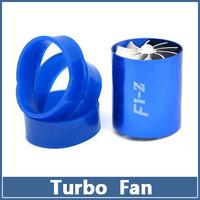 1pcs Universal Double Turbo Fan Supercharger Car Dual  F1-Z Air Intake Fuel Gas Saver Propeller Turbonator ventilator booster