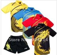 wholesale!free shipping  Li-Ning Man's  London 2012 Olympic Games T-Shirt+shorts Table Tennis,Ping Pong