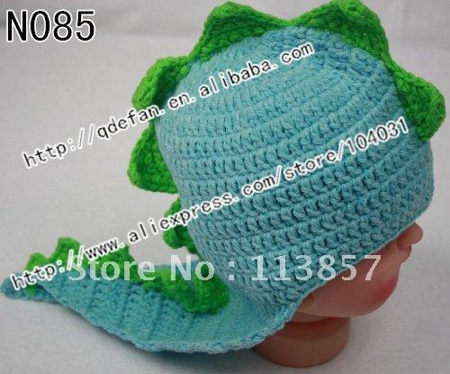 Free shipping (30/lot) 100% cotton baby crochet hats handmade dinosaur hat carnival hat aminal knitting caps mix style choose(China (Mainland))