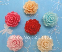 30x Resin Rose backflat appliques/baby craft 6Color