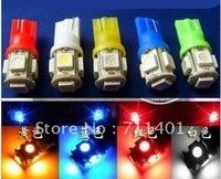 Free shipping factory  wholesale good quality 4pcs/lot car LED Lamp T10 5050  5 SMD 5 LED White Light Bulbs