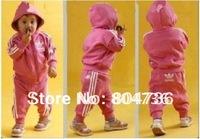 Free shipping,wholesale 5 sets/lot children sporty suit,children jacket+pant,children wear,kids suit,baby suit