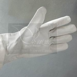 White leather beekeeping tools bee gloves for beekeeper(China (Mainland))