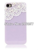 High Quality Hard Lace Pearl Case for  iPhone 4/4S