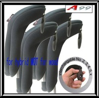 Free Shipping-A99 GOLF H10 Golf Club Head Cover Neoprene Hybrid Headcover BLACK ( 4pcs/set)