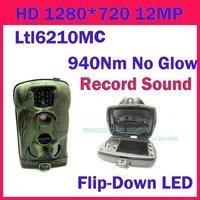 Free Shipping!!Ltl Acorn 6210MC HD 1080P Scouting Hunting Game Camera,Records Sound,Blue 940nm