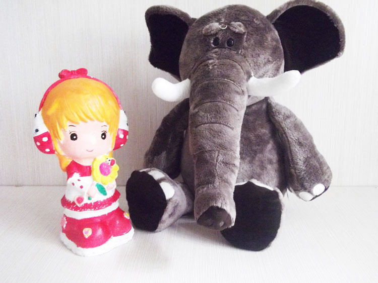 Free Shipping Vivid Adorable Elephant Doll(China (Mainland))