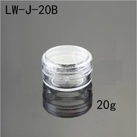 120Pcs Capacity 20g Clear PS plastic Jar Nail art Beauty Powder DIY Refillable Container.High quality!