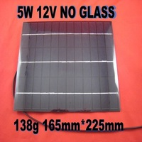 5W Mono Solar Cell panel for diy boat motorcycle 12V Battery Charger