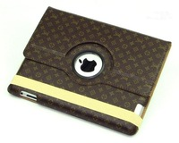 3.26 Leather Case with Smart Cover for Apple ipad 2/4 360 Rotating Smart Cover Magnetic for ipad 3 4 case Free Shipping