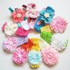 20pcs/lot ribbon bow chiffon flower heabdband flower baby headband baby chocet headband free shipping 10 colors