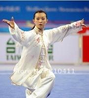 free shipping,Size customized Best Silk Tai Chi clothing for women in taiji performance,pants&veil&shrit