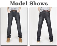 Combed cotton new fashion Business and leisure jeans men,High-grade quality  joker Levs black Straight jeans for men