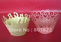 NEW DESIGN!!HOT SALE!!Customized laser cupcake wrapper