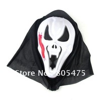 10 pcs Horror Scream Ghost Mask Props for Halloween , zombie mask rubber latex