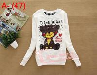 Free shipping,2014 Brand new women casual hoodie,ladeis elegant autum/Spring hoodies,womens tops,(Thin),White,/X2492