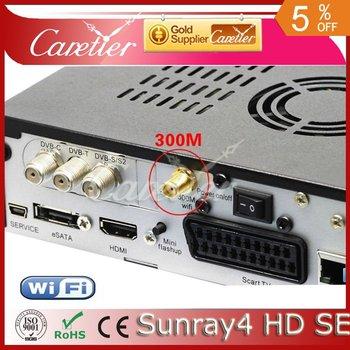 Sunray 800 se SR4 suppot wifi sr4 dm800hd se 3 tuner in 1 HD Linux OS Sunray 800 hd se satellite receive(1pc SR4)r