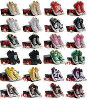 Hot!Canvas Shoes Tall Style Sneakers Men's / Women's Canvas Shoes12 colors (2pcs)Size :35-45