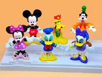 MICKEY Minnie Mouse Donald Duck Daisy Goofy Pluto Cartoon figure Set Childre's toy Free shipping (set of 6)