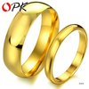 wedding ring  stainless steel couple ring Handmade Jewelry size5/6/7/8 for female size 7/8/9/10 for male Plating Gold 316