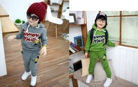 D#A1835 kids suit, baby costume, clothing set, baby t-shirt+ pants, kids clothes, baby tshirt, kids wear