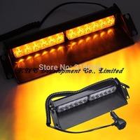 12 LED  12W Strobe Lights With Suction Cups & Fireman Flashing Emergency Warning Car Light 3 Flashing Mode Free Shipping
