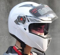 Free shipping Double Visor Flip up motorcycle helmets ABS Racing helmet safety motorbike helmet with removable inner liner