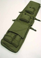 "48"" SWAT Dual Tactical Rifle Carrying Case Gun Bag OD fre ship"