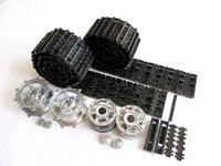 Mato Metal upgraded Tracks, sprockets, idler wheels parts set for Heng Long 3888-1 1/16 1:16 RC  Kingtiger  tank