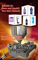 Pneumatic piston double nozzles 5-100ml automatic liquid paste filling machine
