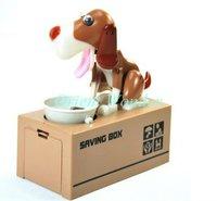 Fast Freeshipping 12pcs/lot dog steal coin bank,dog saving money box,coin saver,money bank for kids Christmas gifts dropshipping