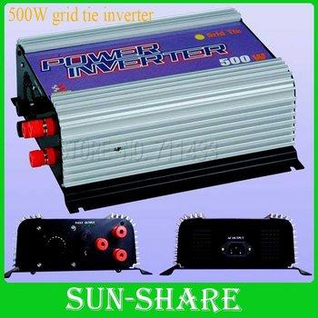 DHL free shipping!  500w wind grid tied inverter with wind controller 3phase input  AC 10.8V-30V output.AC 90V-140V,190V-260V