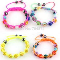Free shipping  wholesale  20 pcs/lot so becautiful women manul Bracelets   Shambhala bracelets