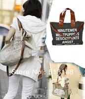 canvas tote bag messenger bags Man/Women's Classical Casual Crossbody Shoulder Handbag free shipping 3 colors