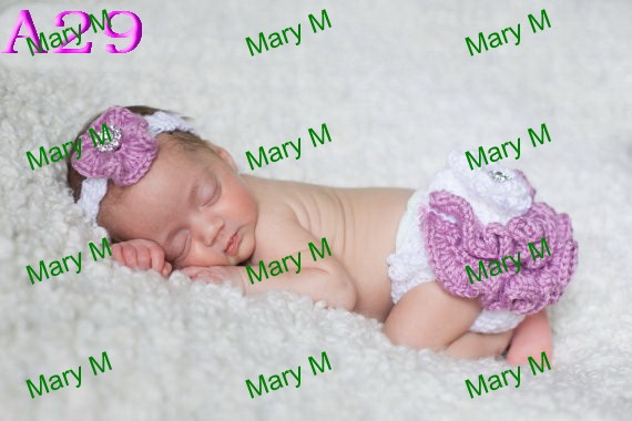 free shipping 20sets Fancy Diaper Cover and Headband Set pattern 100% cotton Crochet Baby Suit Floral Headwear white knitted(China (Mainland))